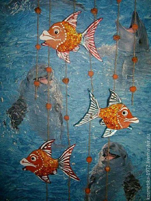 рыбки, для интерьера, купить керамику оптом