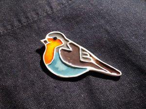 Лепим птичку-брошку из полимерной глины, используя самодельные молды. Ярмарка Мастеров - ручная работа, handmade.