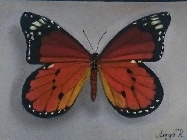 Видео мастер-класс: рисуем бабочку пастелью на наждачной бумаге | Ярмарка Мастеров - ручная работа, handmade