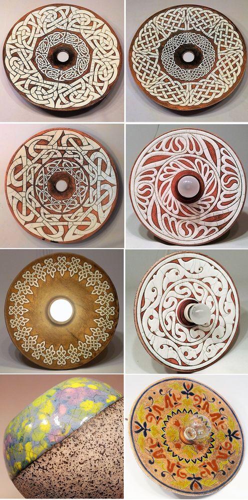 керамические люстры, этно, роспись на керамике, орнамент