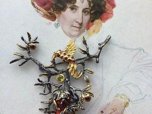 серебряная брошь с итальянским кораллом — видео. Ярмарка Мастеров - ручная работа, handmade.
