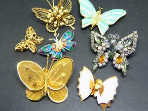 Винтажные бабочки. Ярмарка Мастеров - ручная работа, handmade.