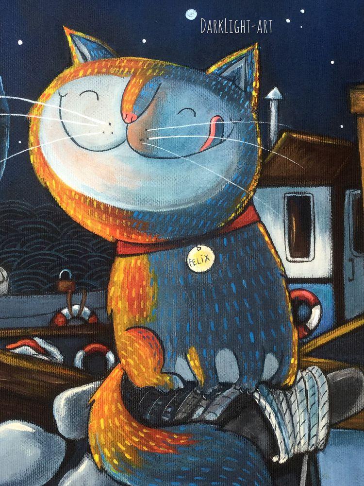 аукцион одного дня, сумка, сумочки, ручная роспись, котэ, коты и кошки