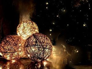 Новогодний Царь-шар из джутового шпагата. Ярмарка Мастеров - ручная работа, handmade.