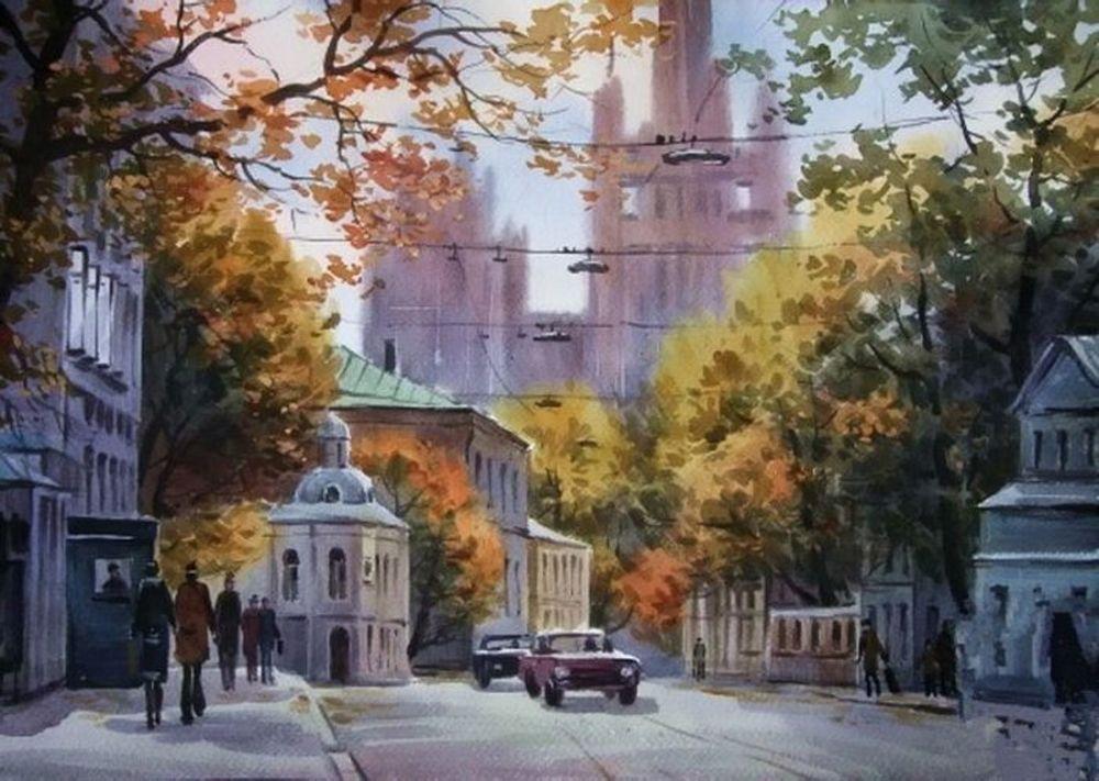Акварельные пейзажи художника Ильи Горгоца, фото № 16