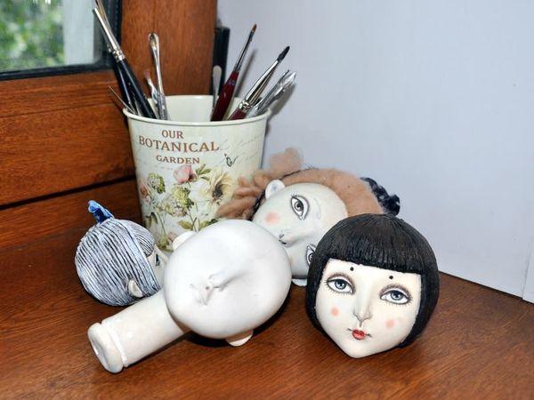МК для начинающих по лепке кукольной головы из самоотвердевающих пластиков! | Ярмарка Мастеров - ручная работа, handmade
