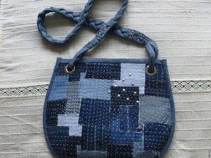 Шьем из джинсовой ткани сумочку в стиле «боро» | Ярмарка Мастеров - ручная работа, handmade