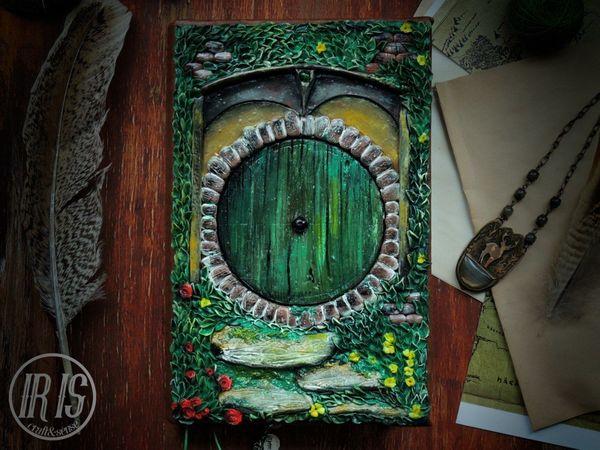 Обложка для блокнота из полимерной глины своими руками | Ярмарка Мастеров - ручная работа, handmade