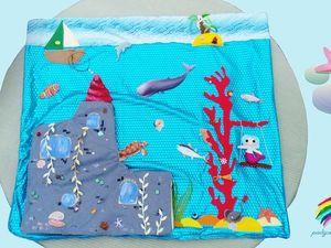 """Фотообзор развивающего коврика """" Замок русалки"""". Ярмарка Мастеров - ручная работа, handmade."""