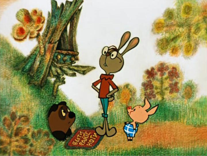 Картинки из мультфильма винни пух в гостях у кролика