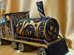 Вы меня не потеряли? Я создавала паровоз.Прошу ко мне. Ярмарка Мастеров - ручная работа, handmade.