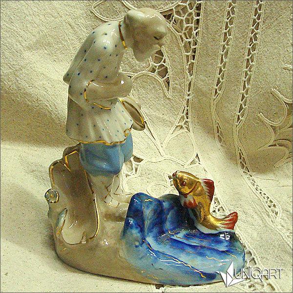 фарфор, винтаж, скульптурная миниатюра, старинный стиль, русский стиль