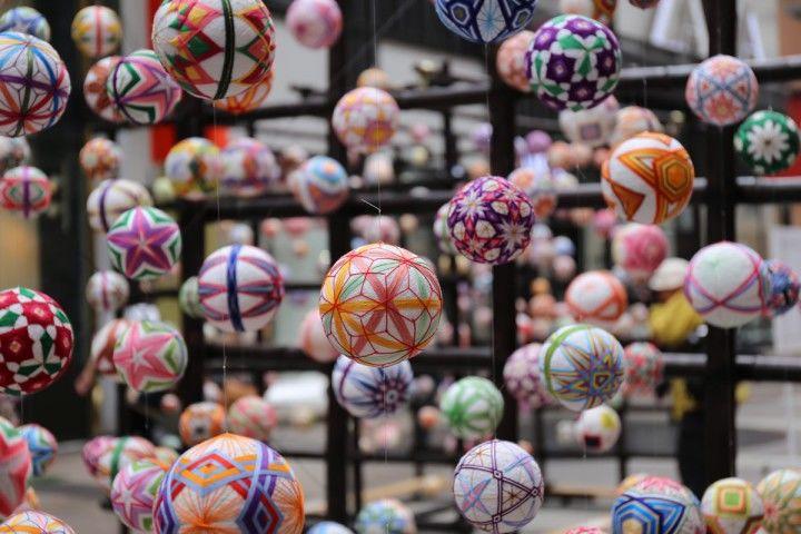 японская вышивка на шарах