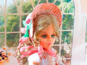 Шьем очень простую милую шляпку для куклы. Ярмарка Мастеров - ручная работа, handmade.