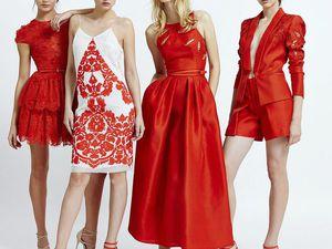 Встречаем Новый год в красном платье. Ярмарка Мастеров - ручная работа, handmade.
