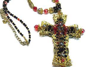 Новинка кулон - крест Византия | Ярмарка Мастеров - ручная работа, handmade