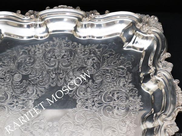 Поднос Королева Виктория серебрение лев 2 | Ярмарка Мастеров - ручная работа, handmade