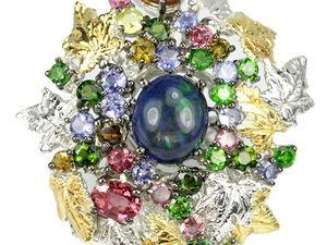 Коллекционные кольца с крупными натуральными камнями. Ярмарка Мастеров - ручная работа, handmade.