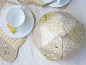 Комплект для чаепития Весенние цветы. Ярмарка Мастеров - ручная работа, handmade.