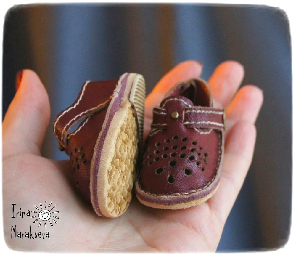обувь для куклы, натуральная кожа