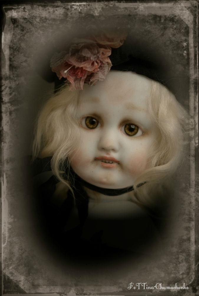 антикварная головка, авторская кукла, фото