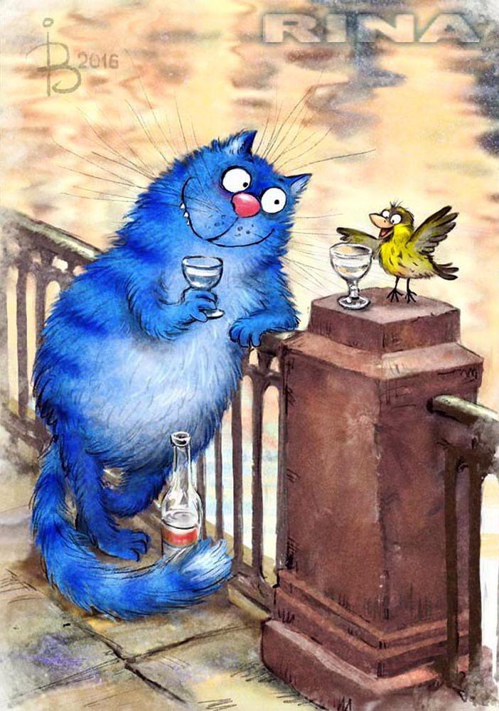 иллюстрация, синий