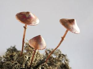 Новые шпильки-грибы!. Ярмарка Мастеров - ручная работа, handmade.