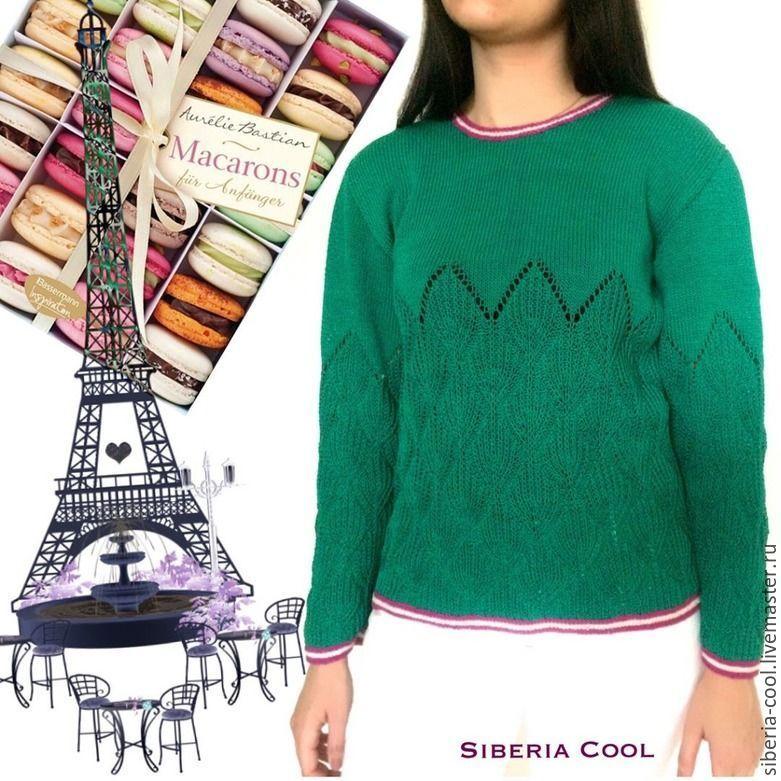 свитер вязаный, тельняшка, лиловый, малахитовый