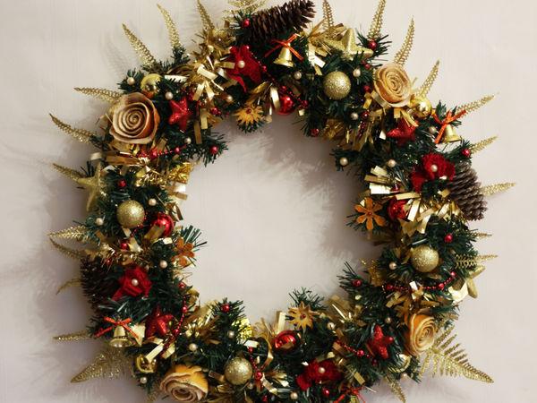 Создаем рождественский венок | Ярмарка Мастеров - ручная работа, handmade
