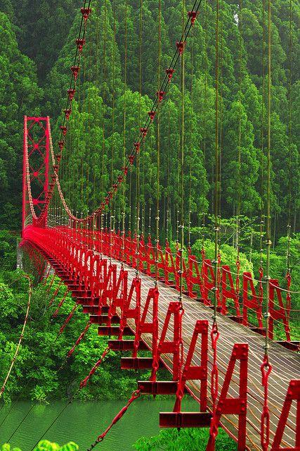 Red Bridge, Japan.