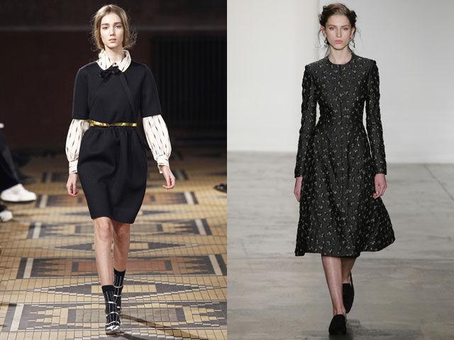 платья осень зима