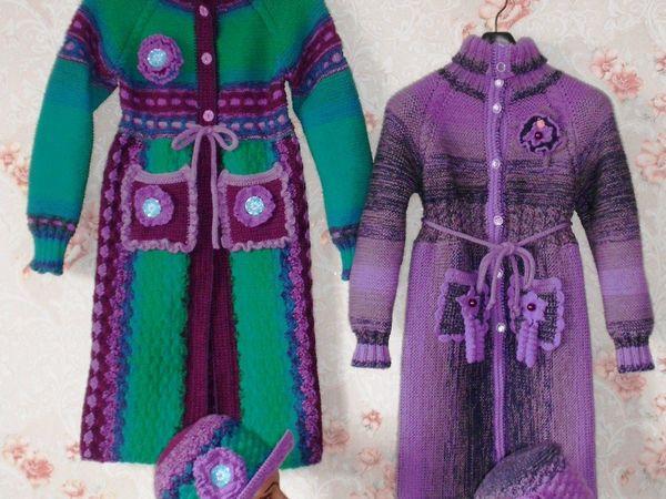 Аукцион на 2 вязаных, осенних комплекта одежды для девочек 7-10 лет | Ярмарка Мастеров - ручная работа, handmade