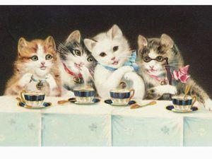 Кошачьи посиделки | Ярмарка Мастеров - ручная работа, handmade
