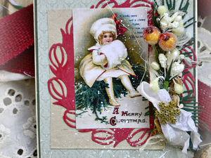Новогодние винтажные открытки! | Ярмарка Мастеров - ручная работа, handmade