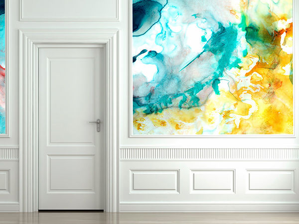 The Tenderest Interior: Abstract Watercolours on Modern Wallpapers, фото № 15