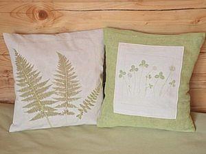 How to Make Plant Prints on Fabric. Livemaster - handmade
