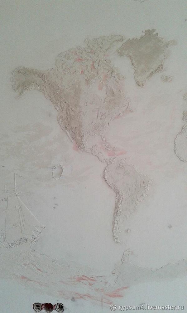 Изготавливаем барельеф «Карта», фото № 12