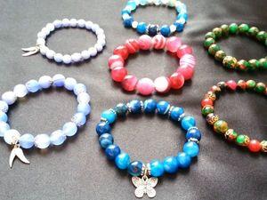 Видеообзор - разноцветные браслеты из Агата. Ярмарка Мастеров - ручная работа, handmade.