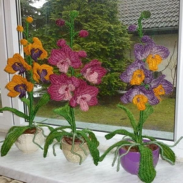 цветы макраме