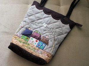 Приглашаю на аукцион: сумка в стиле японский пэчворк | Ярмарка Мастеров - ручная работа, handmade