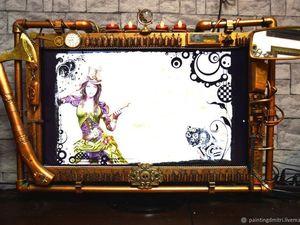 Рама для игрового монитора в стиле стимпанк. steampunk. Ярмарка Мастеров - ручная работа, handmade.