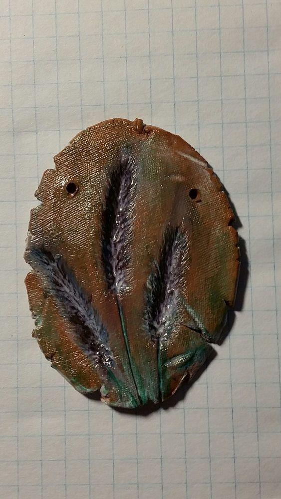 глина, оттиск на глине, эко, отпечаток растений