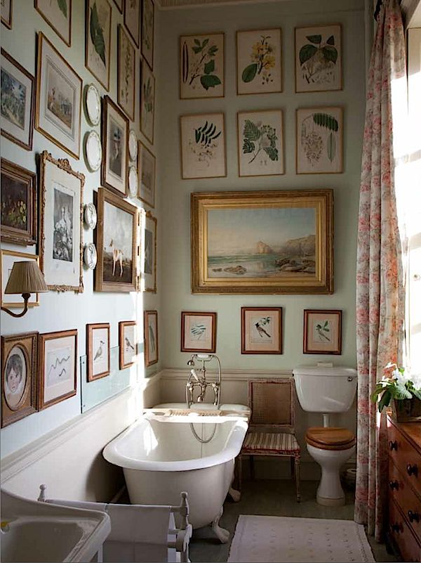 Bath at Milton from The English Country House via Quintessence