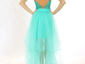 Коктейльное Платье-футляр из Двухцветных Пайеток Р0798 | Ярмарка Мастеров - ручная работа, handmade