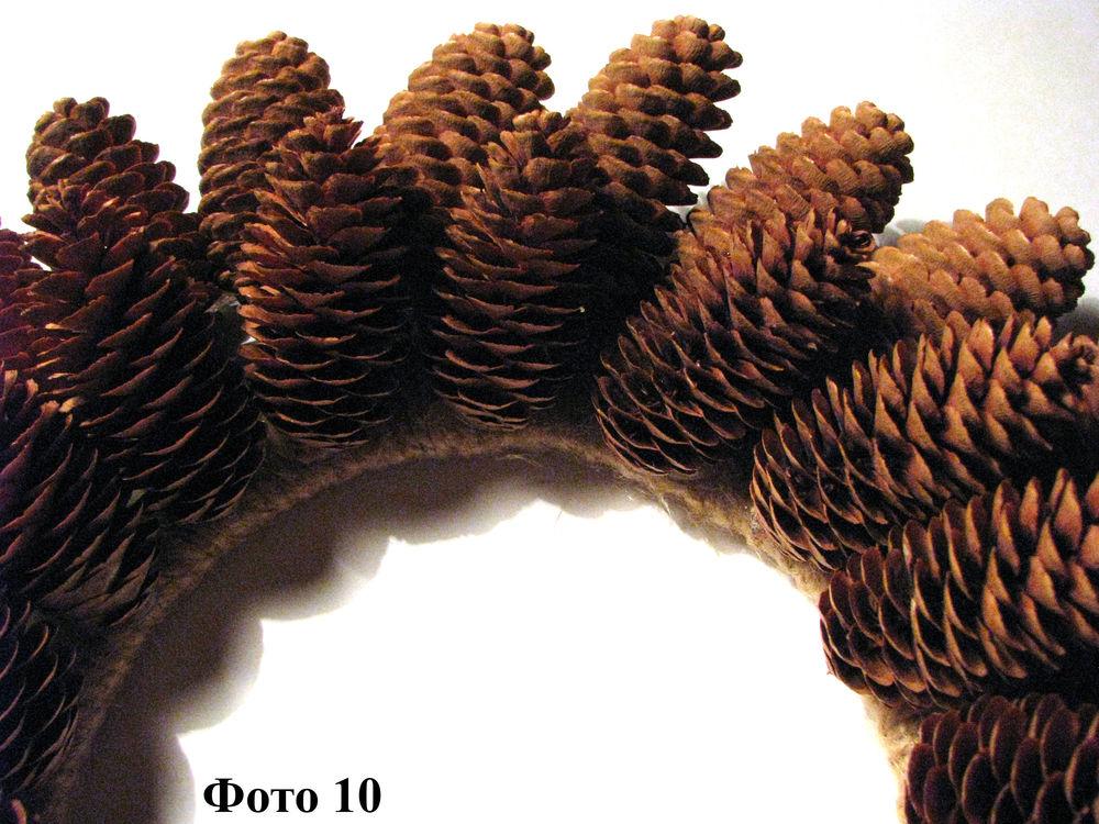 Мастерим Рождественский венок из еловых шишек, фото № 11