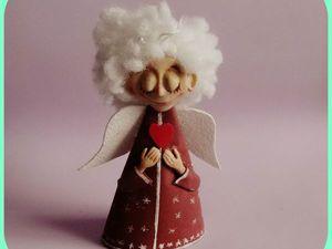 Делаем милого и доброго ангела на елку в смешанной технике | Ярмарка Мастеров - ручная работа, handmade