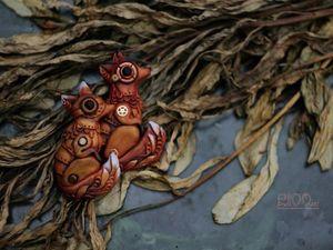 Лисы биомеханиссы. Кулон в стиле биомеханика. | Ярмарка Мастеров - ручная работа, handmade