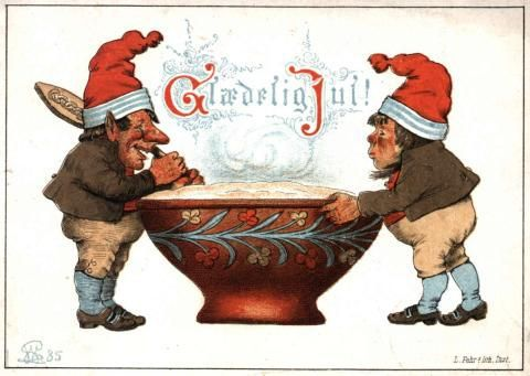 From the Norske Folkmuseum -   The oldest Christmas card in the museum's collection. December 1885.