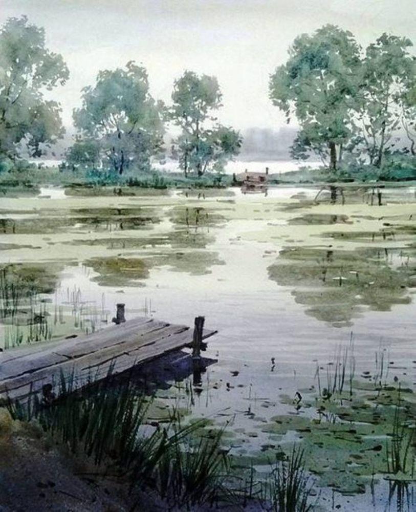 Акварельные пейзажи художника Ильи Горгоца, фото № 30