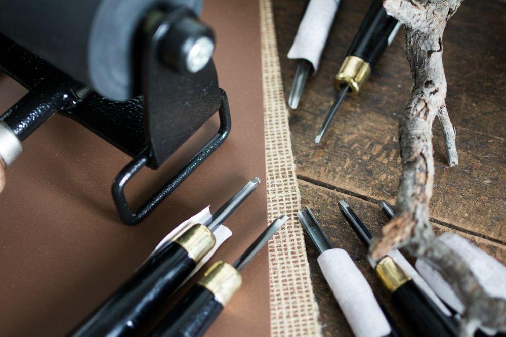 линогравюра, ручная печать